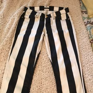 Cute striped 7 for all mankind jeans!